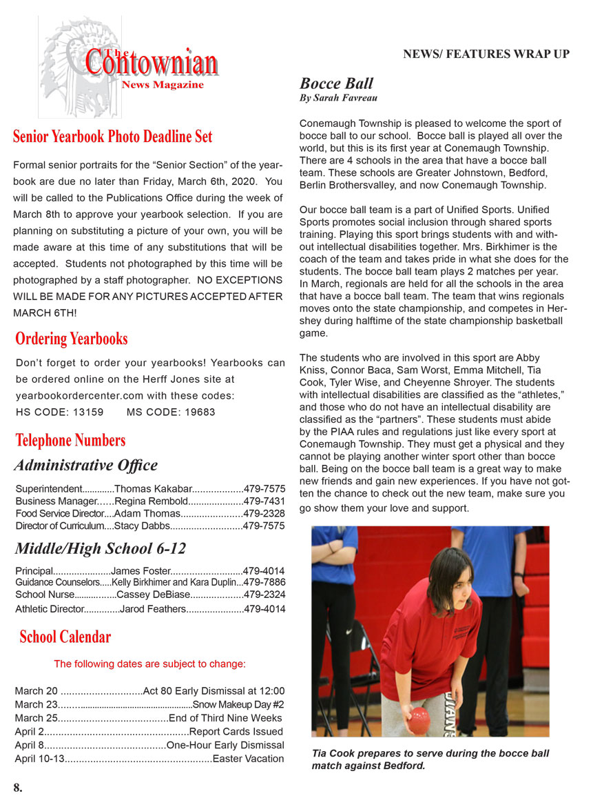 Contownian Newsletter Magazine - page 8