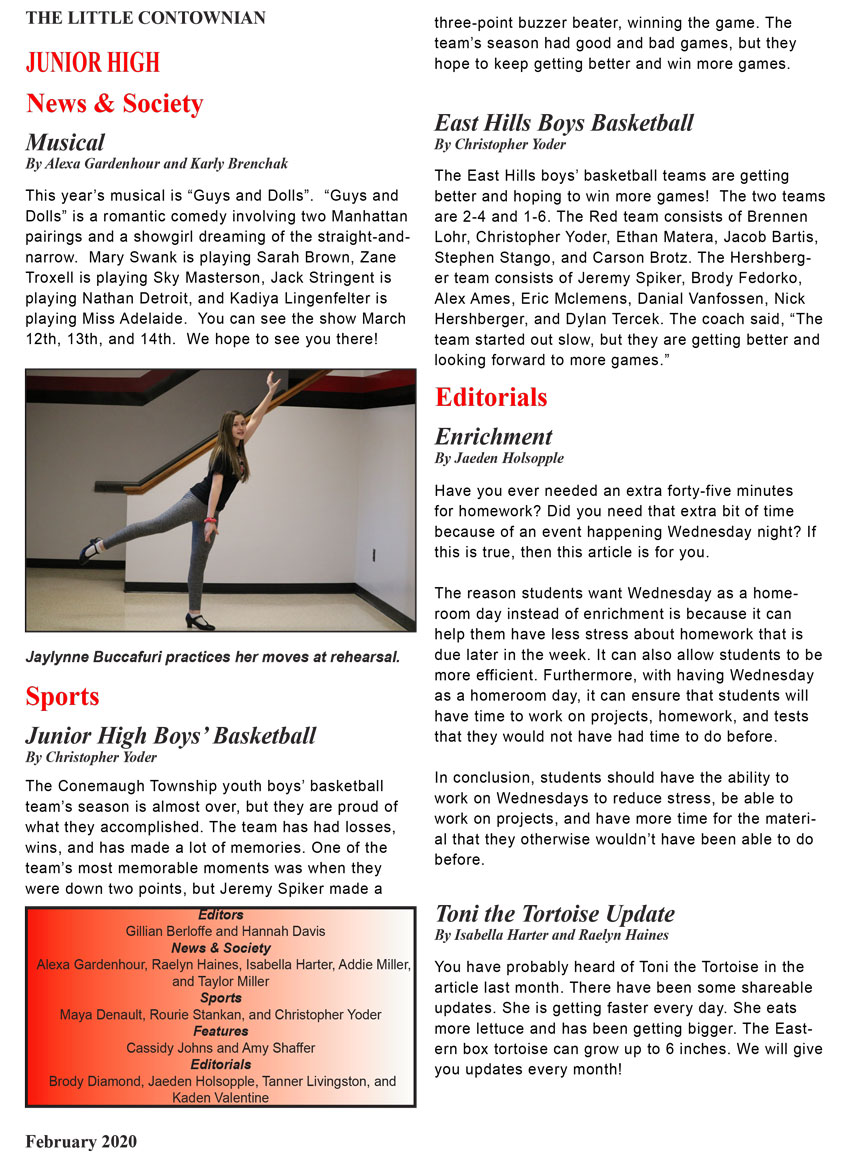 Contownian Newsletter Magazine - page 9