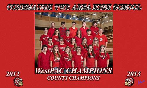 Conemaugh TWP. Area High School 2012-2013 WestPAC Champions County Champions