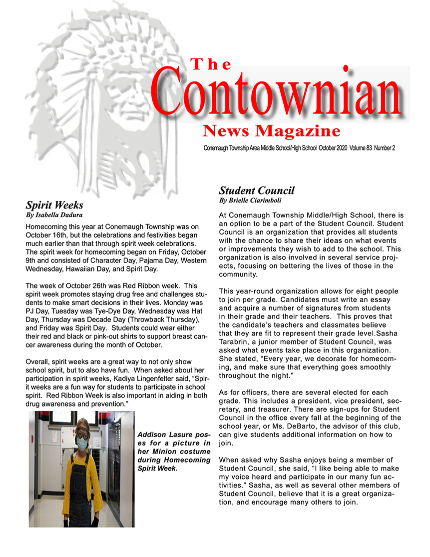 Contownian Newsletter Magazine - page 1