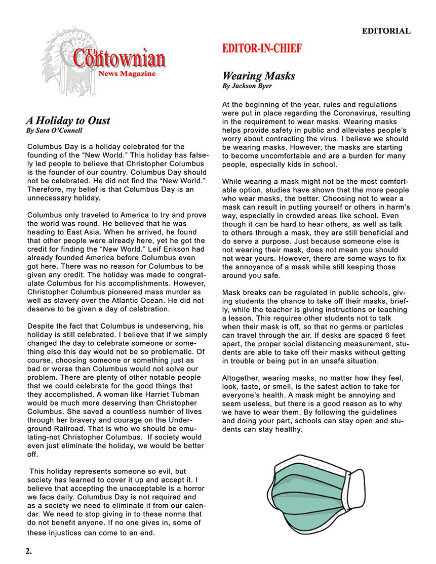 Contownian Newsletter Magazine - page 2
