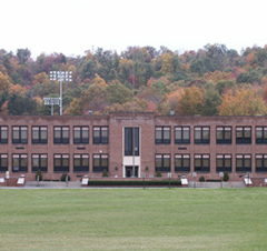 Front of school building