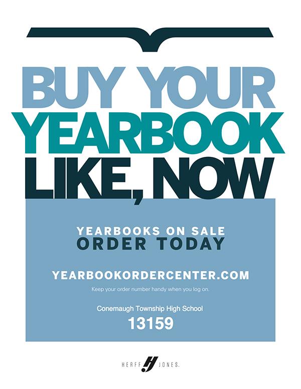 High School Yearbook Order Flyer