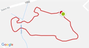 Google map image of the fitness trail