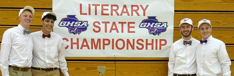 The Boys Quartet State Champions at the GHSA State Literary Meet