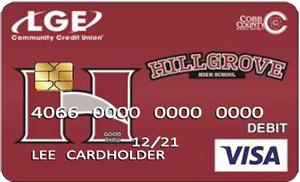 LGE Community Credit Union Hillgrove High School VISA Spirit Card
