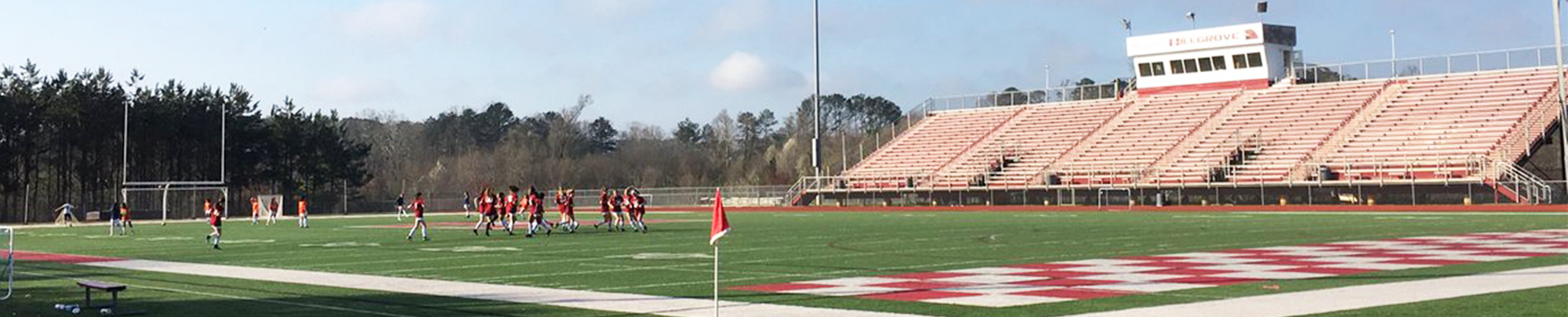 3-View of Hillgrove High School football field during a game