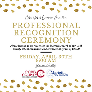 Professional Recognition Ceremony Flyer