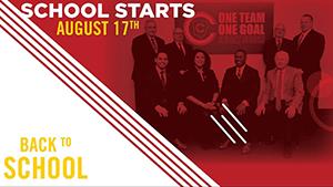 Back to school! School starts August 17th.
