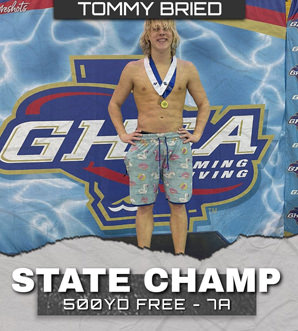 Tommy Bried State Champ 500YD Free - 7A