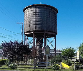 The Grant Water Towers - historical wooden water built 1891