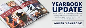 YEARBOOK UPDATE - Order your yearbook online