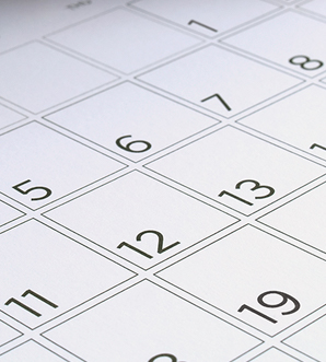 numbers on a calendar