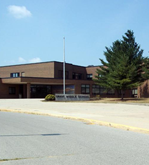 Outside view of Grant Middle School building