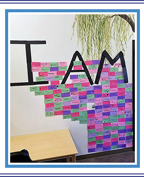 I AM Wall display at Monticello Montessori