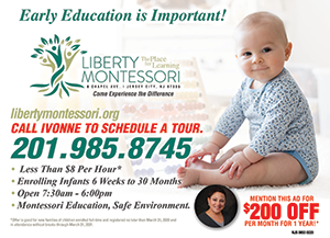 Early Education is Important. Call Ivonne to schedule a tour. 201-985-8745.