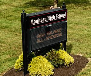 Moniteau High School sign