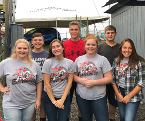 Ensemble members who performed the National Anthem at the North Washington Rodeo