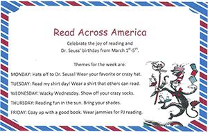 Read Across America Spirit Week Flyer