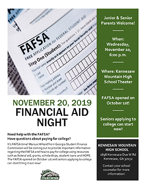 Financial Aid Night Flyer
