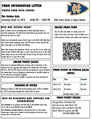 Prom Information Letter