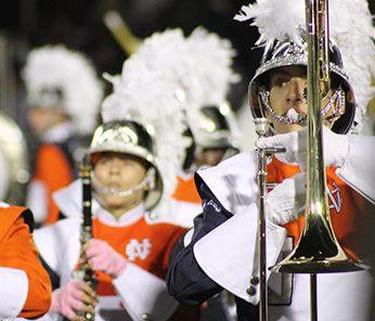 North Cobb marching band with horns