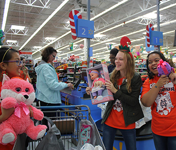 Three North Cobb female students shopping for gifts