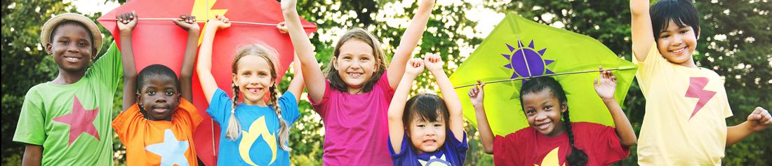 children holding kites