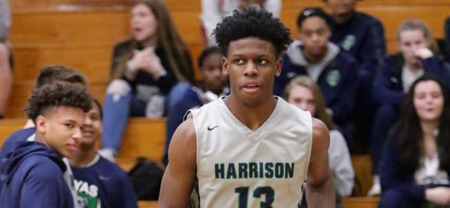 Harrison Boys Basketball player