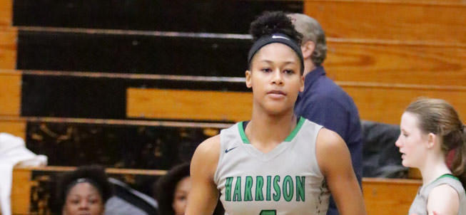 Harrison Girls Basketball player