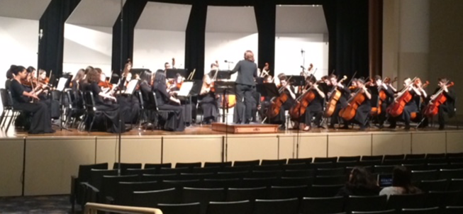 Harrison High School Orchestra performs