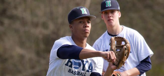 Two Hoyas baseball players
