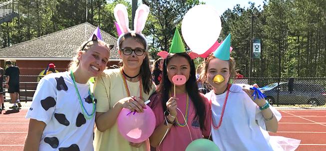 Harrison High School Students in Costume
