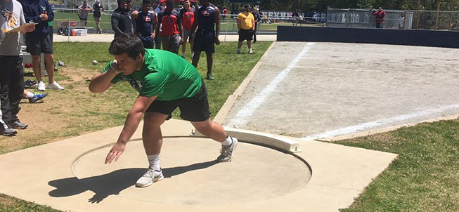 Harrison High School Discus Track and Field Athlete