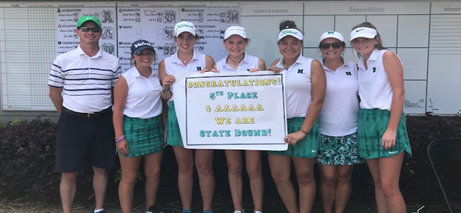Harrison High School Girls Golf Team - Congratulations! 5th Place - We are state bound!