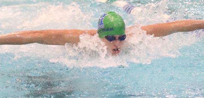Student swims
