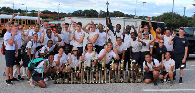 NJROTC and Drill Team members