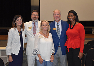 Cobb Juvenile Court Judge Jeff Hamby poses with other adults