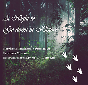 A Night to Go Down in History Prom flyer