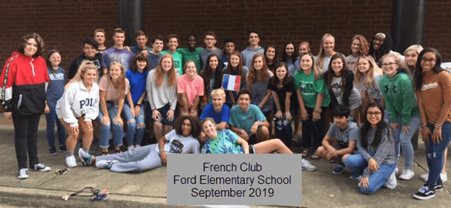 French Club Ford Elementary School September 2019