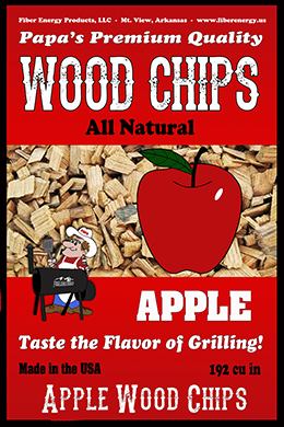 Apple Wood Chips Front of bag