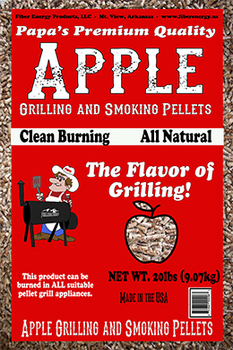 Apple grilling and smoking pellets