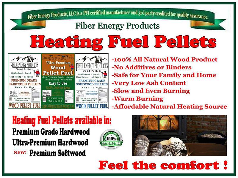 Premium hardwood fiber energy products