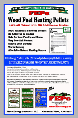 back of Pine Heating Pellets