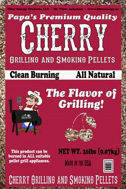 Cherry grilling and smoking pellets