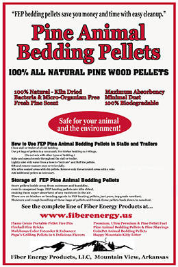 Pine Animal Bedding Pellets back of bag