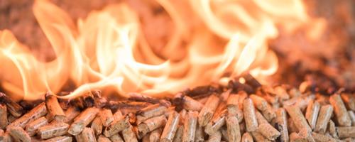 pellets burning