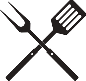 BBQ spatula and fork