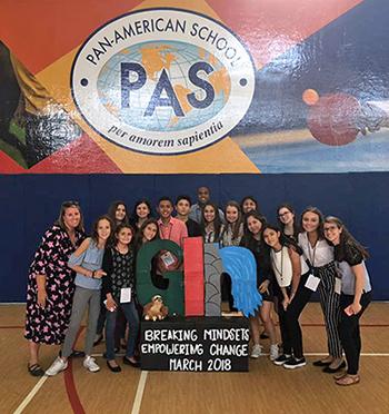 Pan-American School, per amorem sapientia. GIN Breaking mindsets, empowering change, March 2018.