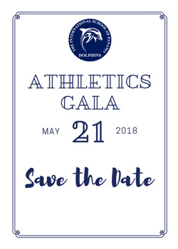 Athletics Gala May 21, 2018 Save the Date